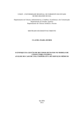 Cláudia Maria Huber - Biblioteca Digital da UNIJUÍ