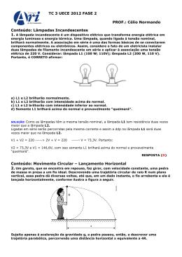 TC 3 UECE 2012 FASE 2 PROF.: Célio Normando Conteúdo