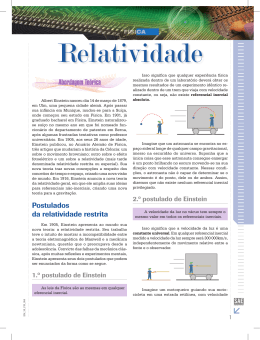Relatividade (Fonte:SAE)