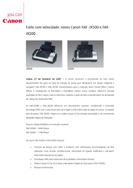 Estilo com velocidade: novos Canon FAX Estilo com velocidade