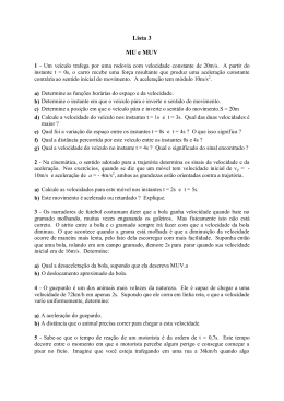 Lista 3 MU e MUV