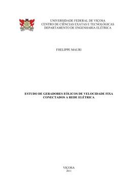 Estudo de Geradores Eólicos de Velocidade Fixa Conectados a