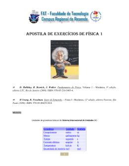 MAGNAGO APOSTILA EXERCICIOS FISICA 1