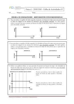Física I – 2009/2010 – Folha de Actividades 02