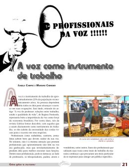 A voz como instrumento de trabalho - Portal PUC