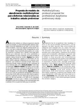 Modelo de atendimento para disfonias do trabalho Resumo