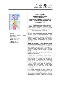 Selo Jangada lança infantojuvenil Diário de Estela