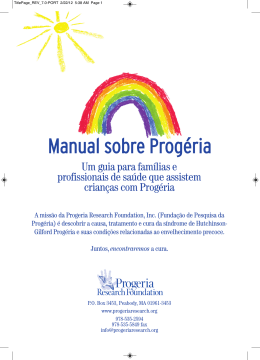Manual sobre Progéria - Progeria Research Foundation
