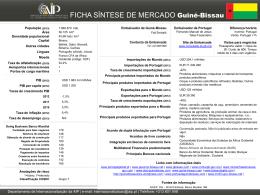 FICHA SÍNTESE DE MERCADO Guiné-Bissau