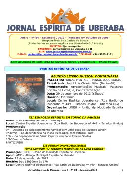 Setembro de 2013 - Jornal Espírita de Uberaba
