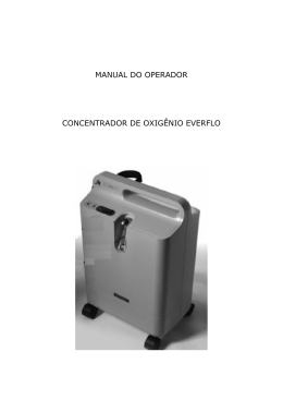 manual do operador concentrador de oxigênio everflo