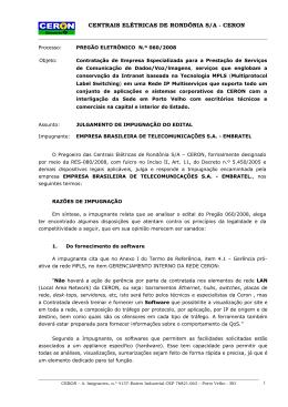 EMBRATEL - Eletrobras Distribuição Rondônia