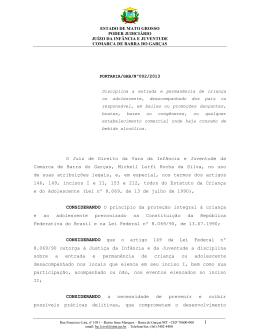Portaria/GAB/Nº 02/2013. - Tribunal de Justiça do Estado de Mato