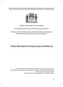 I Plano Municipal de Políticas para as Mulheres