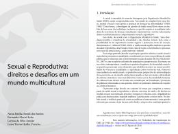 Sexual e Reprodutiva: direitos e desafios em um