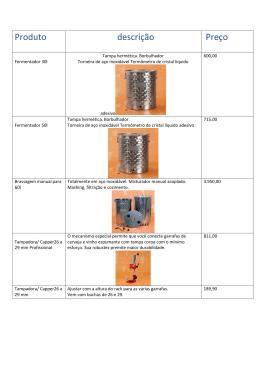 Produto descrição Preço - MCA Equipamentos Braumeister