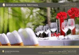 Menu Casamentos e Eventos Sociais