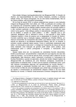 PREFÁCIO Esta edição bilingue (português/sânscrito) da Bhagavad