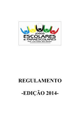 REGULAMENTO -EDIÇÃO 2014-