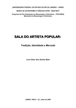 Luiz César Baía. - PPG-PMUS - Museu de Astronomia e Ciências
