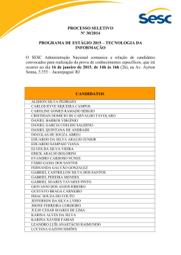 PROCESSO SELETIVO Nº 30/2014 PROGRAMA DE