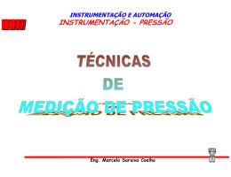 INSTRUMENTAÇÃO - PRESSÃO