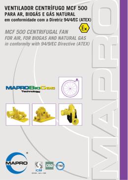 ventilador centrífugo MCF500