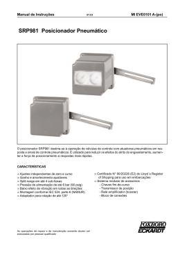 SRP981 Posicionador Pneumático