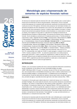 Metodologia para criopreservação de sementes de