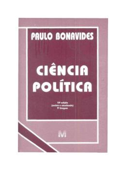Paulo Bonavides-Ciência Política (rev)