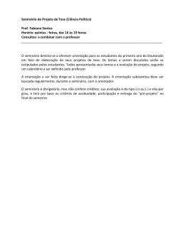 601 – Seminário de Projeto de Tese (Ciência Política) - IESP-UERJ