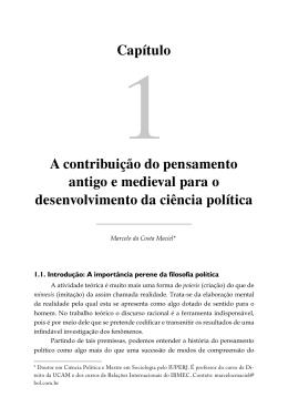 Capítulo A contribuição do pensamento antigo e medieval para o