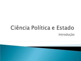Ciência Política e Estado - Jornalismo