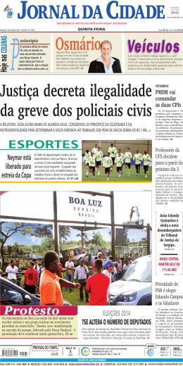 Protesto - Jornal da Cidade