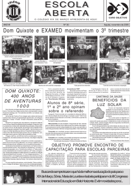 ANO VII Nº 30 novembro de 2005 - colegio xix março / caro objetivo