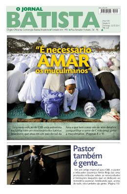 Pastor também é gente... - Convenção Batista Brasileira
