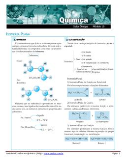 ISOMERIA PLANA - Portal de Estudos em Química