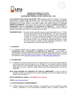 PREGÃO ELETRÔNICO Nº. 011/2011 PROCESSO Nº