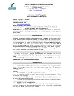 PROCESSO nº 1000/0012/2012 PREGÃO