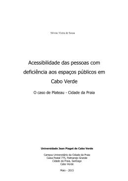 Acessibilidade das pessoas com deficiência aos espaços públicos