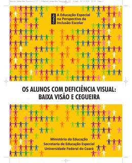 Alunos com deficiência visual, baixa visão e cegueira