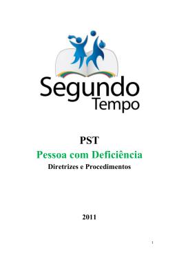 PST Pessoa com Deficiência