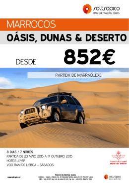 MARROCOS OÁSIS, DUNAS & DESERTO