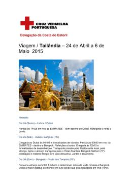 Viagem / Tailândia – 24 de Abril a 6 de Maio 2015