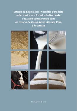 Estudo da Legislação Tributária para leite e derivados nos