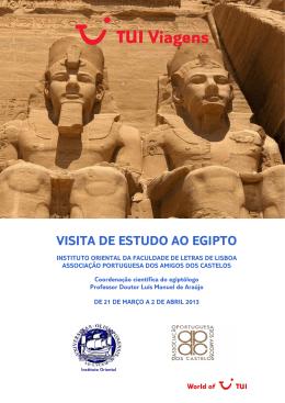 VISITA DE ESTUDO AO EGIPTO