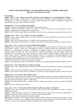 Turismo Social SESC Dourados – Fone (67)3421