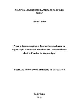 Prova e demonstração em Geometria: uma busca da - PUC-SP