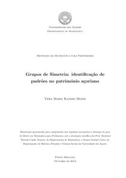 Grupos de simetria: identificação de padrões no património açoriano
