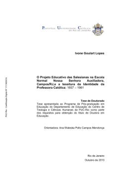 Versão completa da tese/dissertação